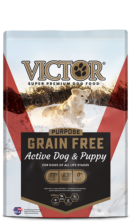 Victor  Active Dog and Puppy Grain Free 5lb (Red)