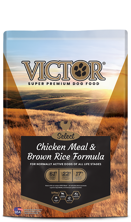 Victor Select Chicken/Rice 40lb (Brown)
