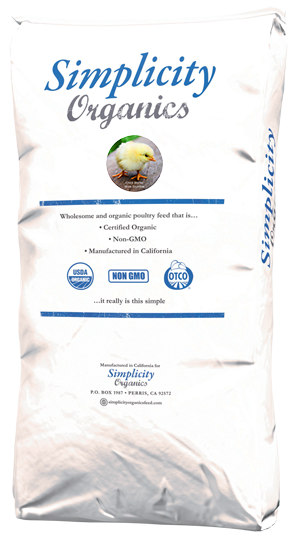 Organic Chick Starter Simplicity 25lb