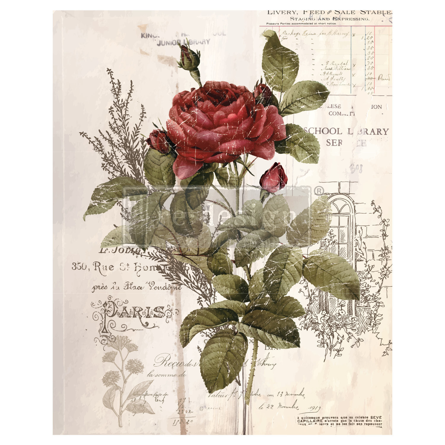 Prima Decor Transfer Botanical Rose Buy Unicorn Spit