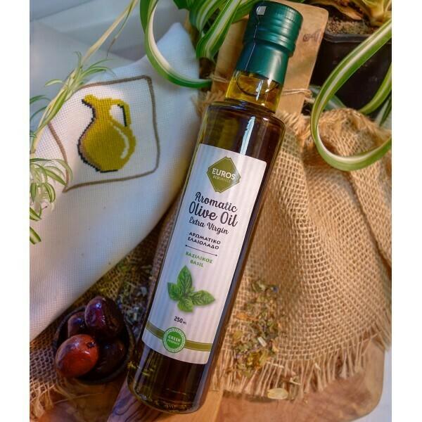 Euros базилик, оливковое масло, 250 мл