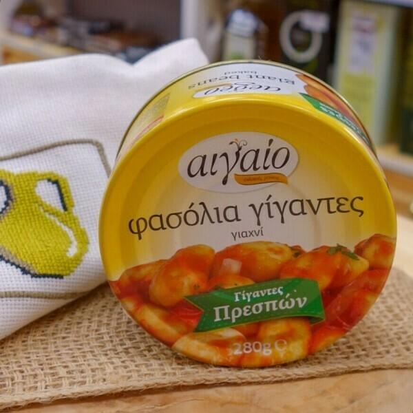 фасоль гигантская в томатном соусе AIGAIO 280гр