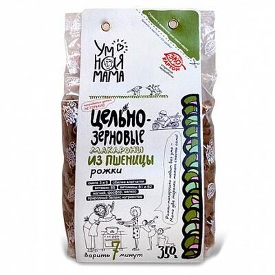 Макароны цельнозерновые из пшеницы Рожки, 350гр, Всем на пользу