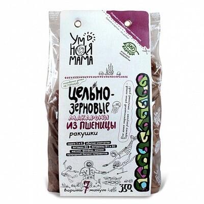 Макароны цельнозерновые из пшеницы Ракушки, 350гр, Всем на пользу