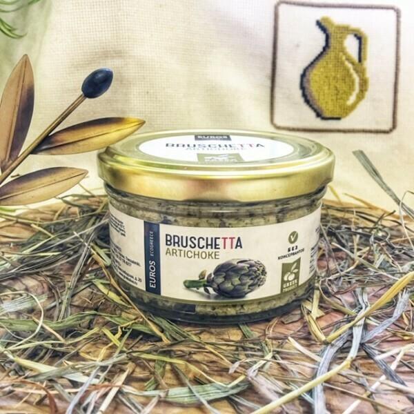 Брускетта из артишоков с оливками халкидики в оливковом масле 150г ст/б Evros