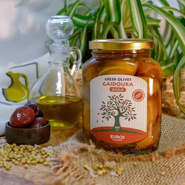 Оливки ГАЙДУРА в оливковом масле Extra Virgin (ст/б 200гр/140гр)