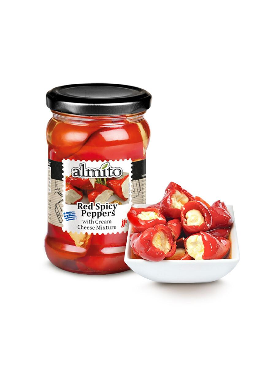 Перец красный с сырным кремом Almito 320мл