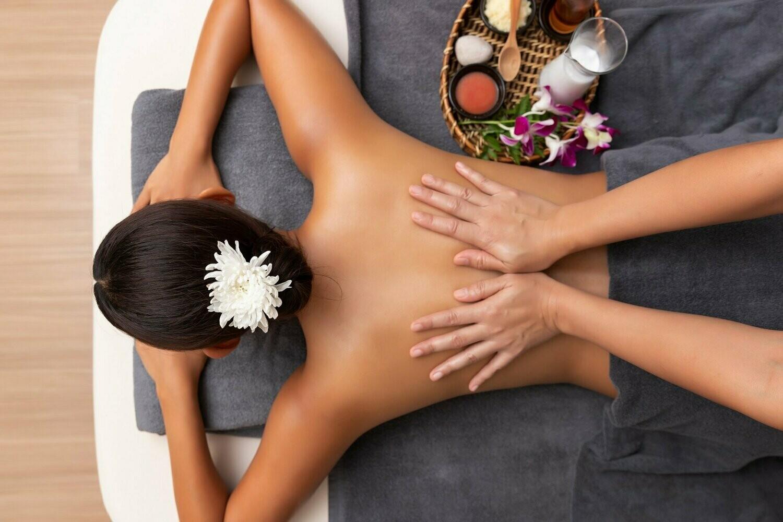 Rückenmassage oder Kopf- und Schultermassage