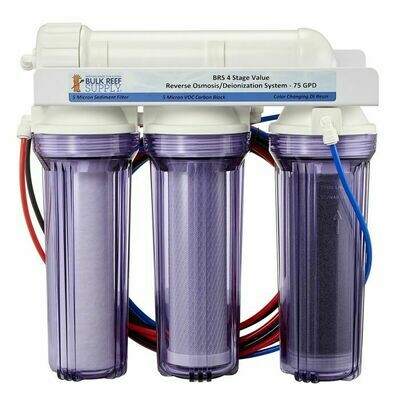 Bulk Reef Supply: 4 Stage Value 75GPD RO/DI System