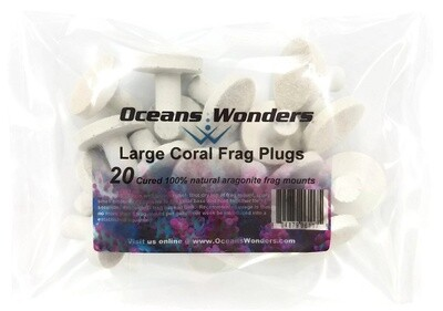 Oceans Wonders: Large Coral Frag Plugs - 20 Pack