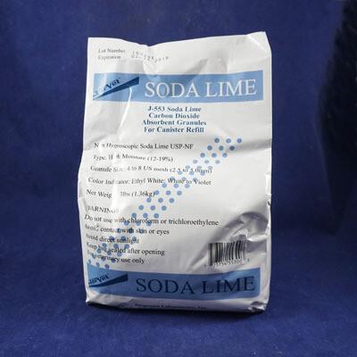 Soda Lime J-553 Carbon Dioxide Absorbent Granules, 3lb