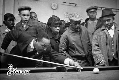MLK New Pool Table Postcard