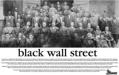 18 x 24 Black Wall Street Poster