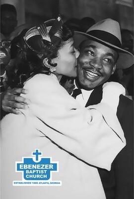 MLK & Coretta Love Postcard