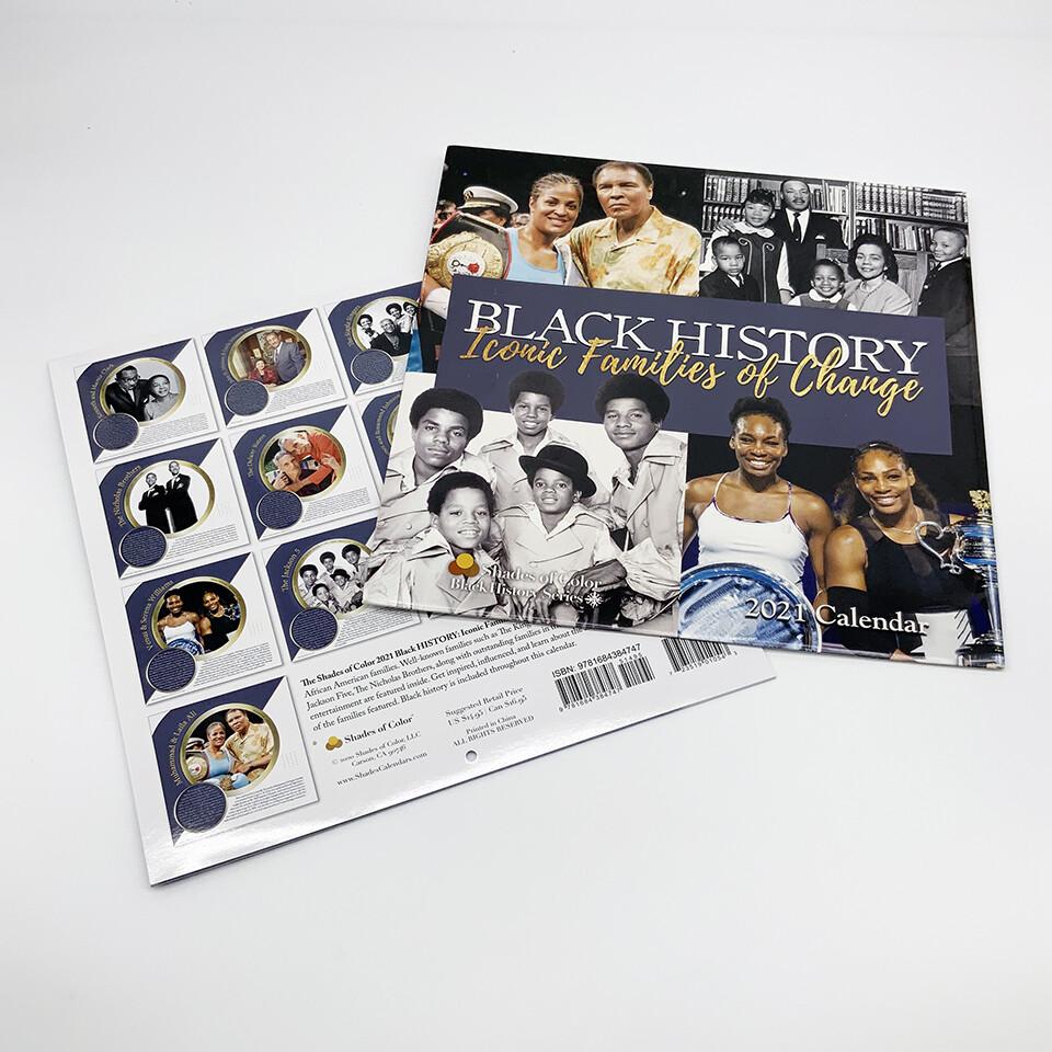 2021 Black History: Iconic Families 12 x 12 Wall Calendar