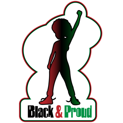 """Black and Proud Girl 2.81"""" x 4"""" Custom Magnets"""