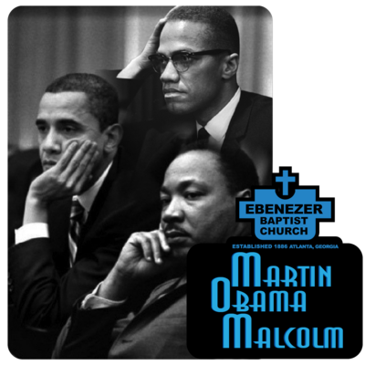 "Martin Obama Malcolm - Custom 4"" x 3.98"" Die cut Sticker"