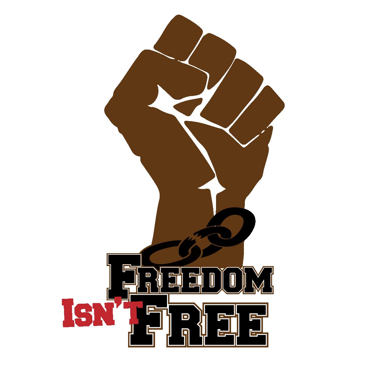 """Freedom Isn't Free - Brown Fist - Custom 2.74"""" x 4"""" Custom Magnet"""