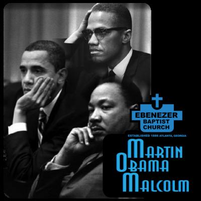 "Martin Obama Malcolm - Custom 4"" x 3.98"" Custom Magnet"