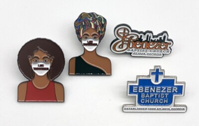 I Am Vaccinated Afro - Lapel Pin