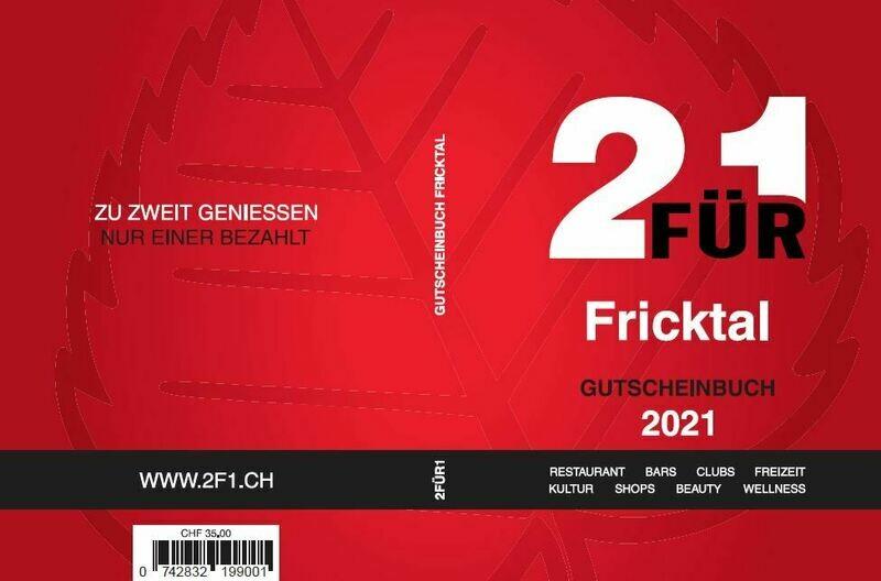 Gutschein-Booklet 2für1 Fricktal