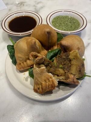 1. Vegetable Samosas- 4 pieces
