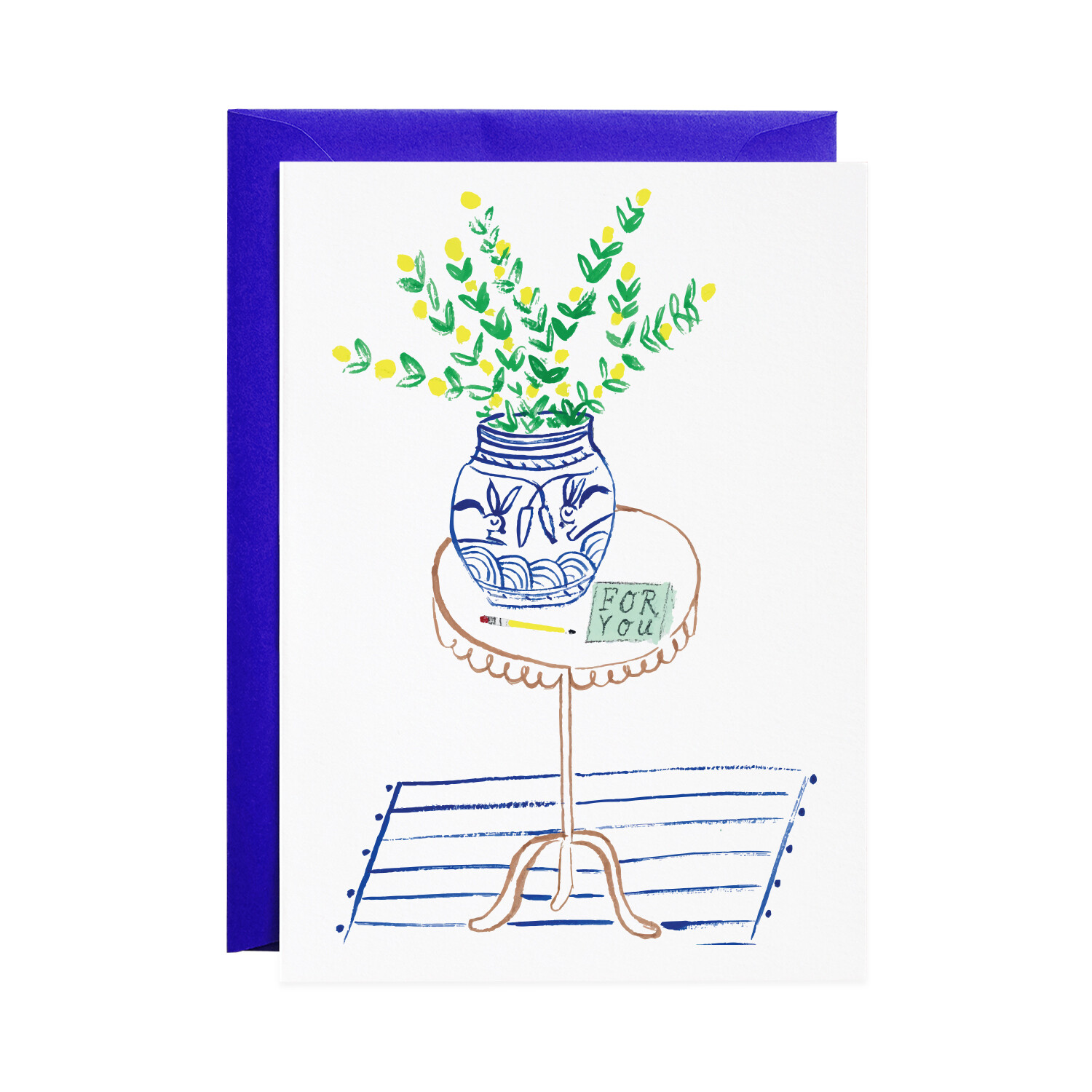 Greeting Card - A Note on the Table