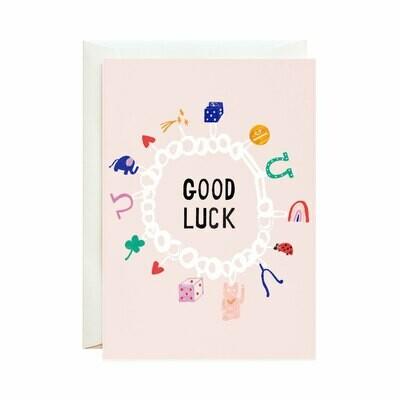 Greeting Card - Lucky Cat + Clover