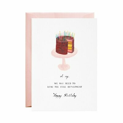 Greeting Card - Ring the Fire Department