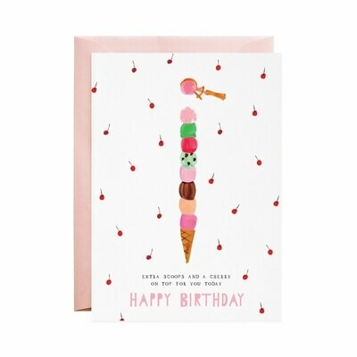 Greeting Card - Extra Birthday Scoops