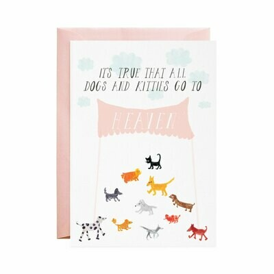 Greeting Card - Doggies in Heaven