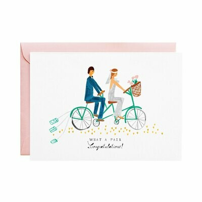 Greeting Card - Tin Cans on the Tandem