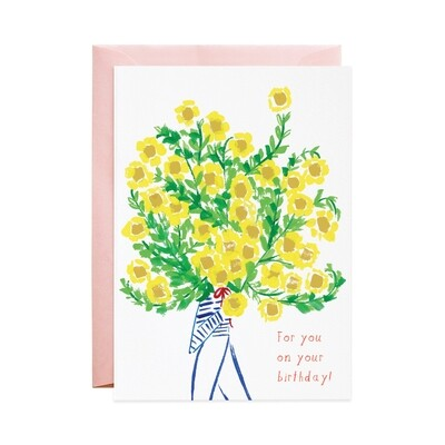 Greeting Card - The Biggest Bouquet for Your Birthday