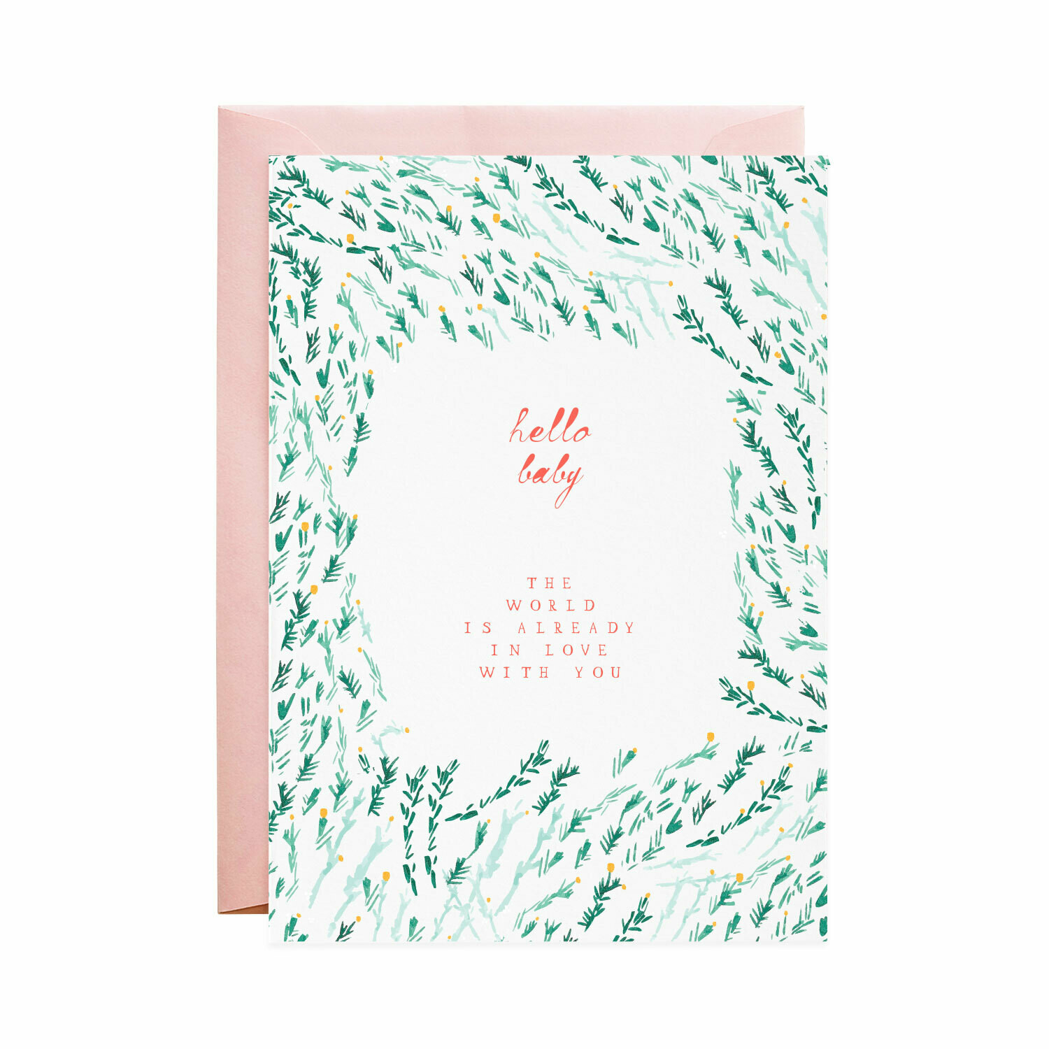 Greeting Card - Baby & the World