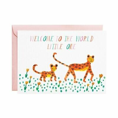 Greeting Card - Mummy Leopard