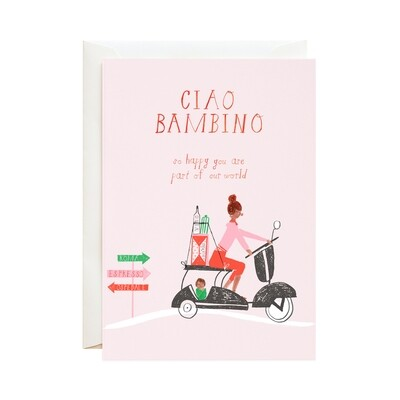 Greeting Card - Ciao Bambino