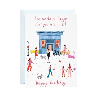 Greeting Card - Party on Main Street