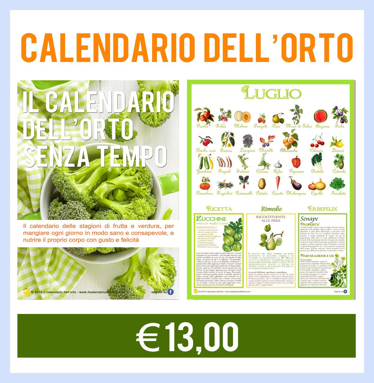 Favorito Il Calendario dell'Orto (Nuova edizione 2018) | Il Calendario dell  ZT71