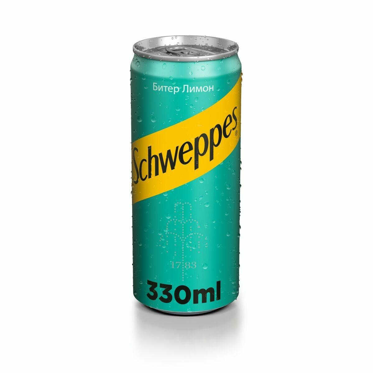 Schweppes Can Bitter Lemon 330 ml