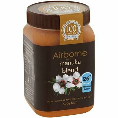 Airborne Manuka Blend Honey 25 plus 500g