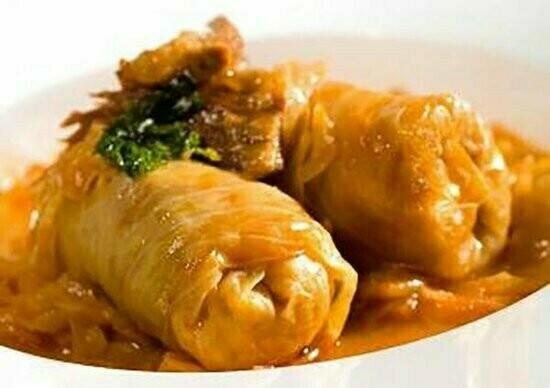 Cabbage roll 2pcs-Mashed potato Bread (2 Sarmi pire leb)