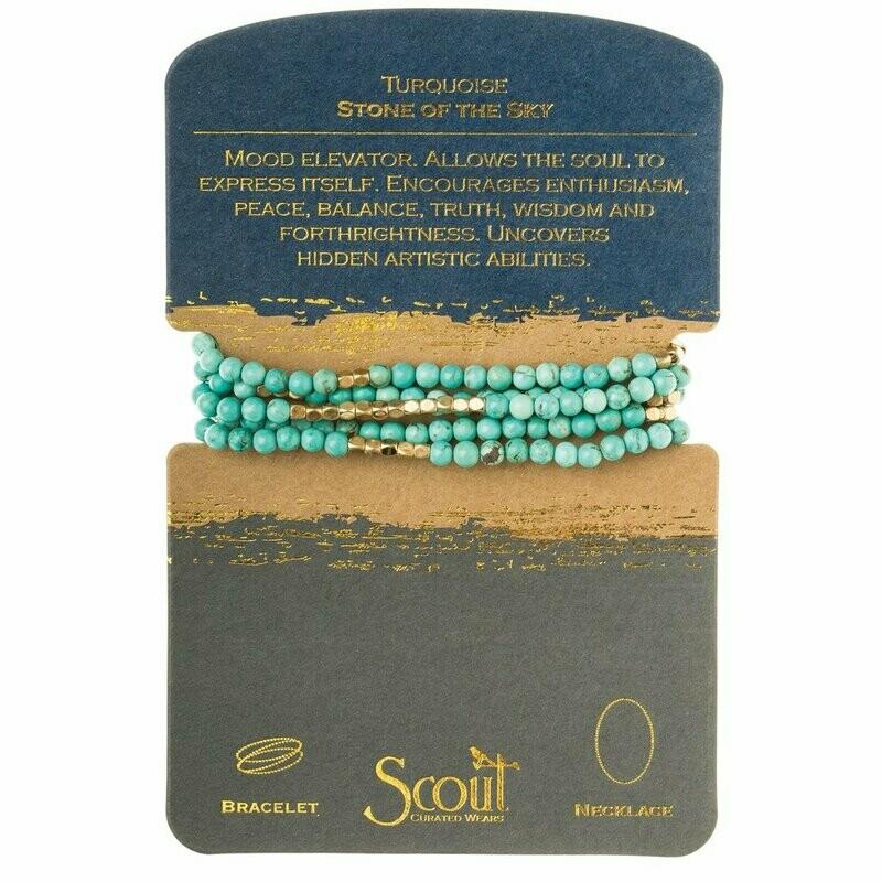 Stone Wrap - Turquoise & Gold