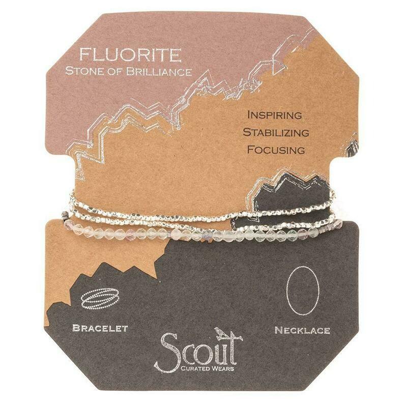 Delicate Stone Bracelet/Necklace - Fluorite - Stone of Brilliance