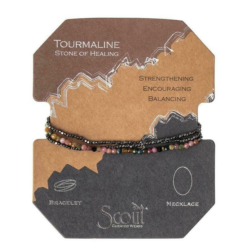 Delicate Stone Bracelet/Necklace - Tourmaline - Stone of Healing
