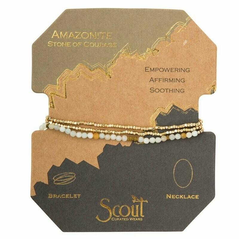 Delicate Stone Wrap - Amazonite - Stone of Courage