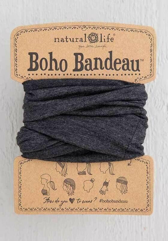 Heathered Charcoal Boho Bandeau