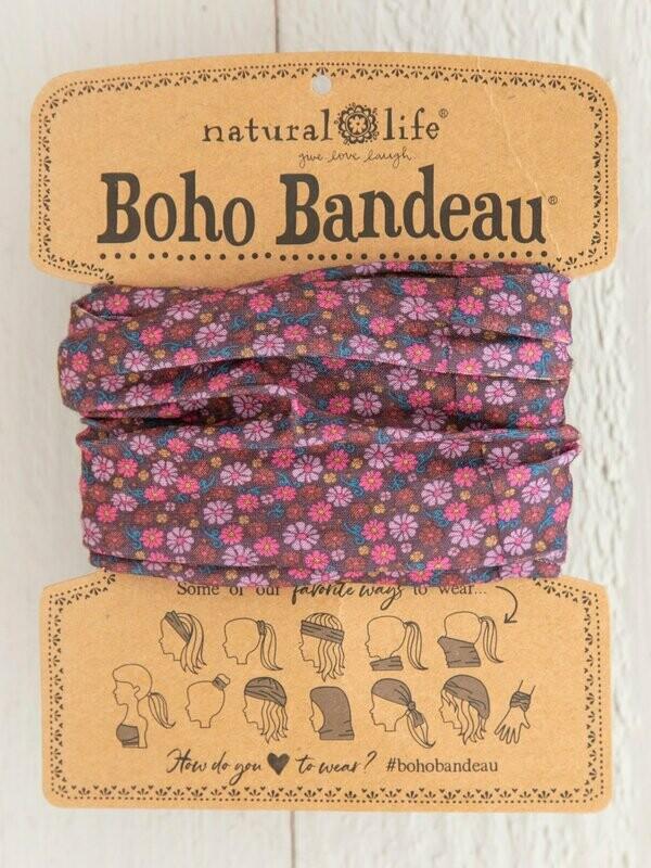 Red Floral Boho Bandeau