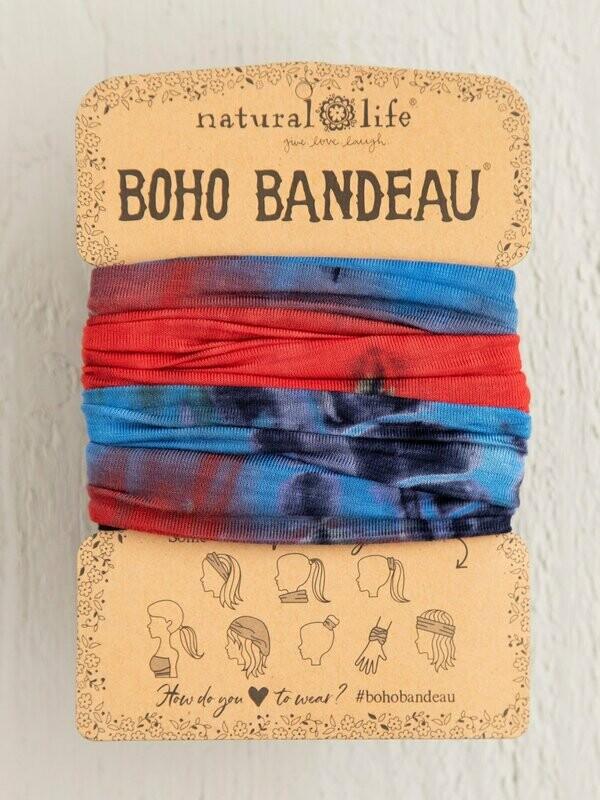 Red, White & Blue Tie-Dye Boho Bandeau