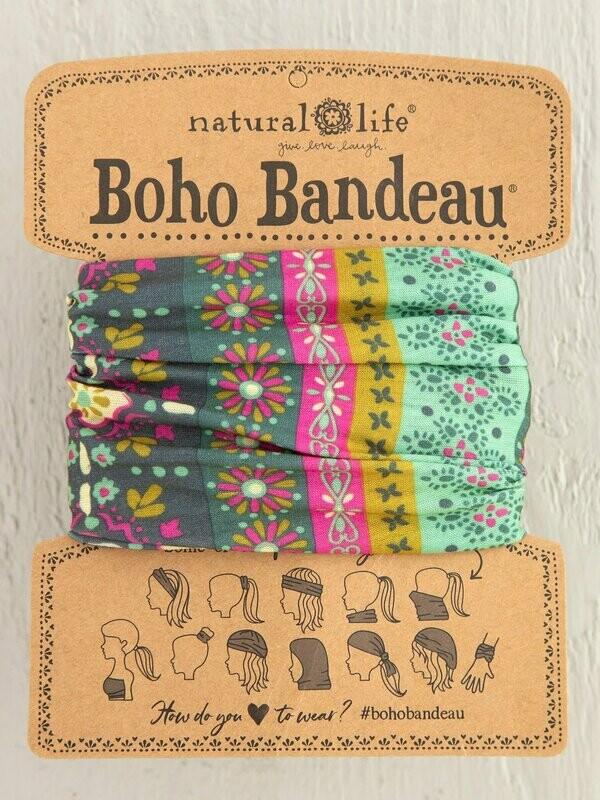 Green Stripe Print Boho Bandeau