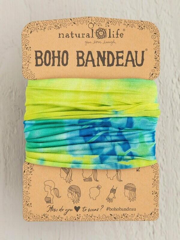 Yellow & Green Tie-Dye Boho Bandeau